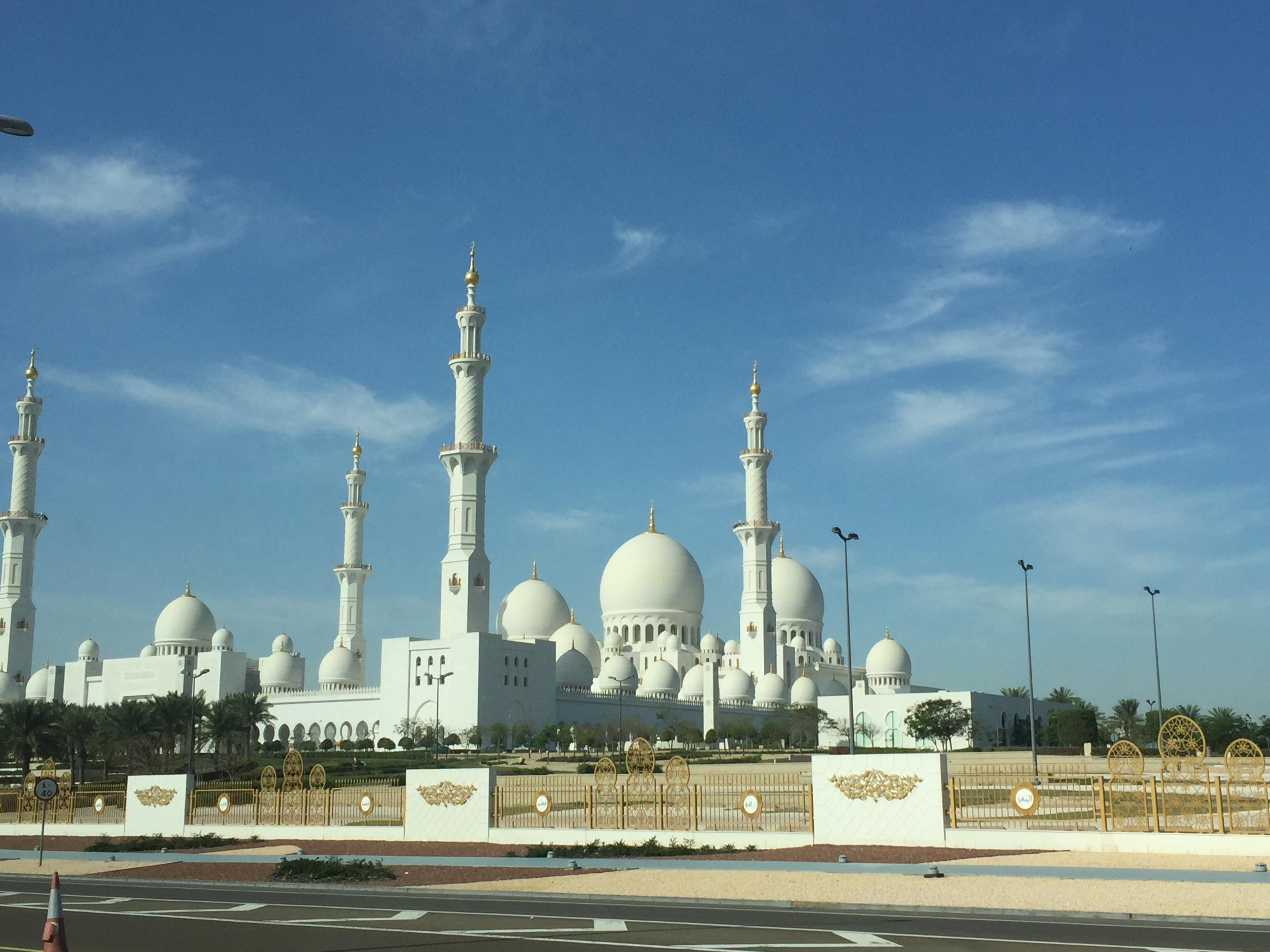 アブダビ モスク 昼