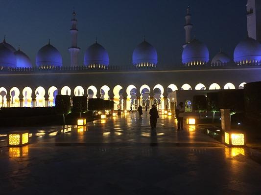 アブダビ モスク 夜