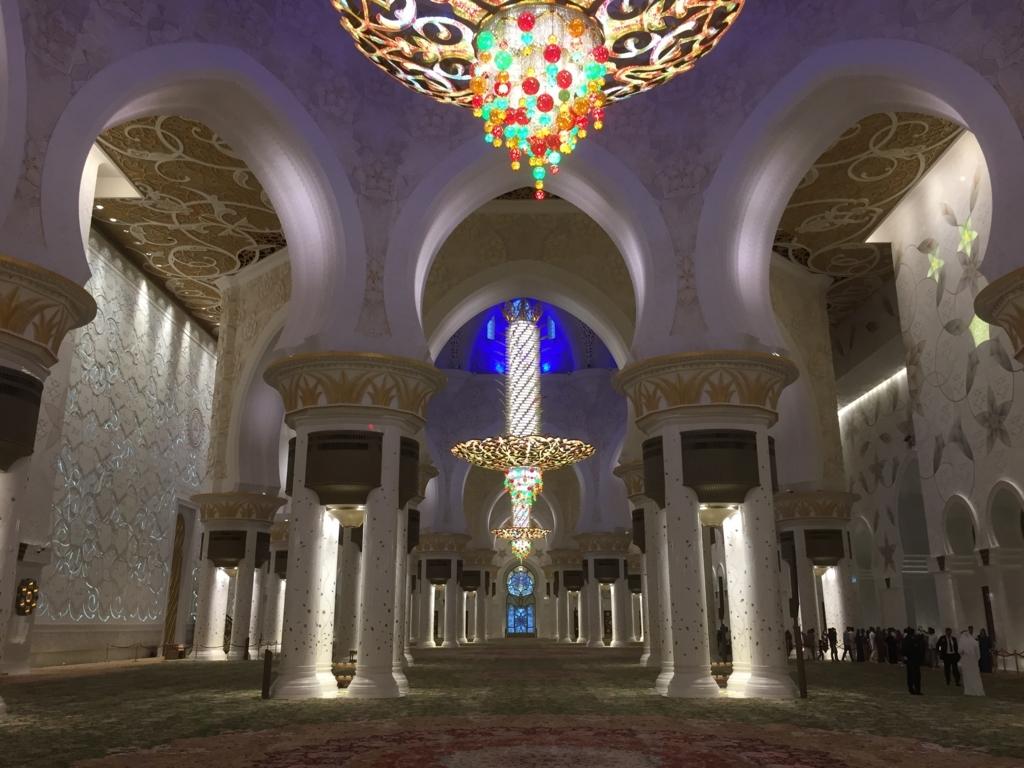 アブダビ モスク 内部
