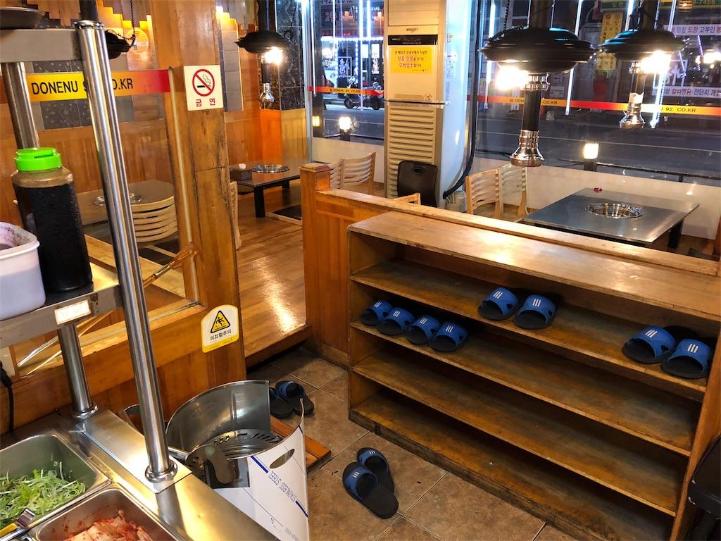 おいしいサムギョプサルが食べれるお店トネヌの中