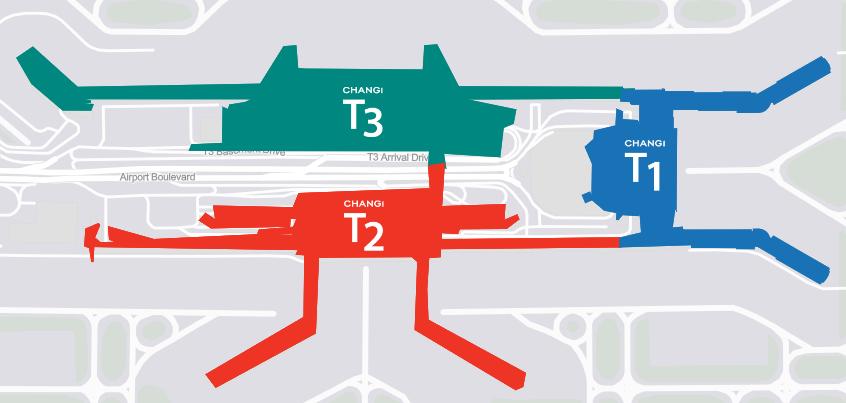 チャンギ国際空港 マップ