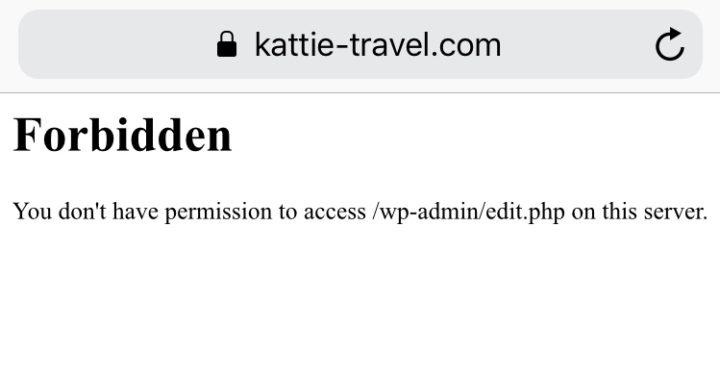Wordpress 海外からのアクセス制限画面