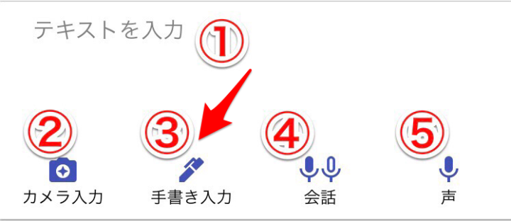 グーグル翻訳 手書き入力