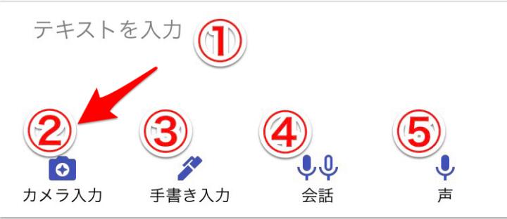 グーグル翻訳 カメラ入力