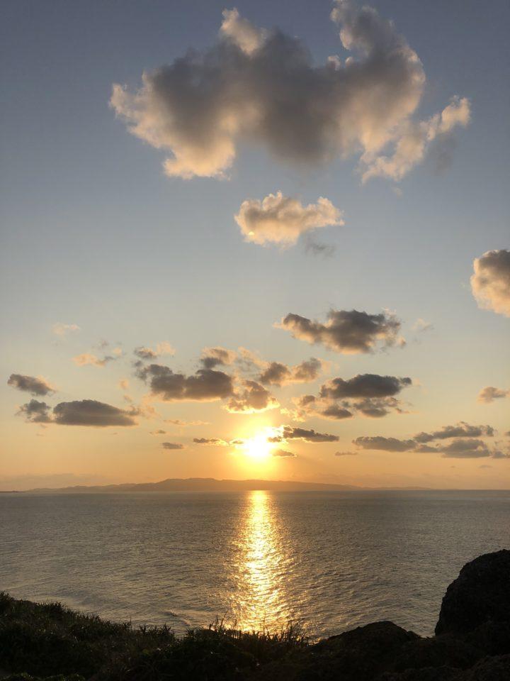 御神崎からの夕日1