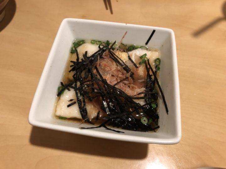 肴座円陣の揚げジーマーミー豆腐