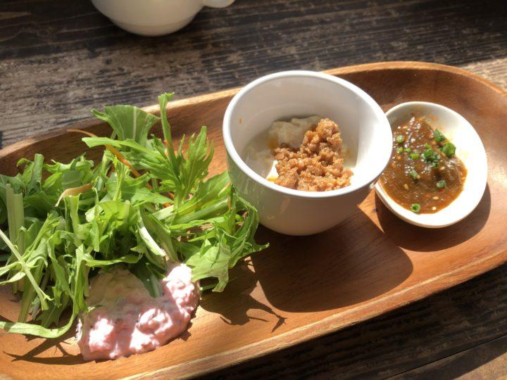 素揚げ野菜カレーランチセット前菜