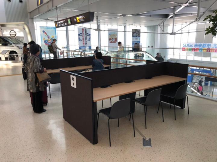 北九州空港2Fのテーブル