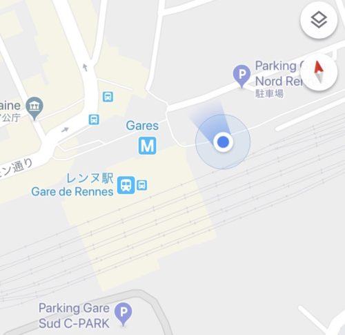 モンサンミッシェル行きバス乗り場