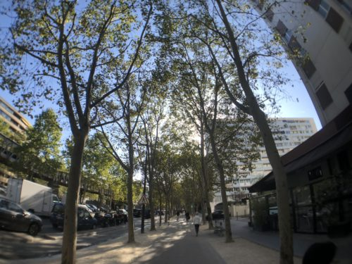 ホテルの前の通り