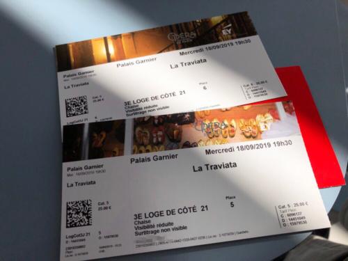 オペラのチケット