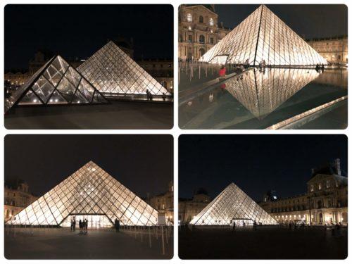 輝くルーブルピラミッド