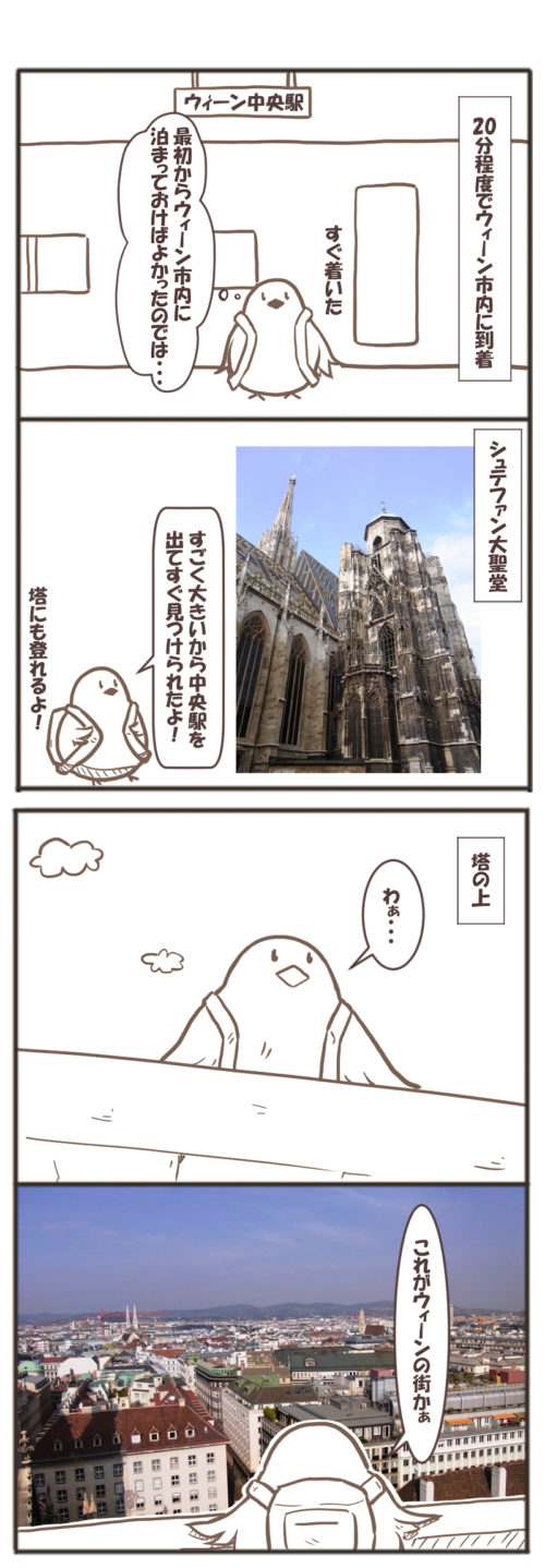 ウィーン旅行のマンガ(シュテファン大聖堂)