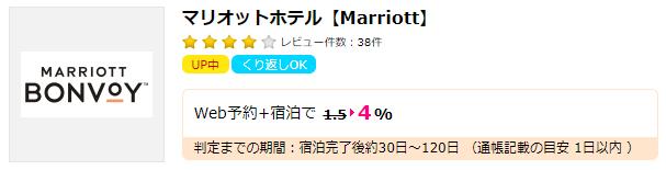 【ハピタス】マリオットホテル
