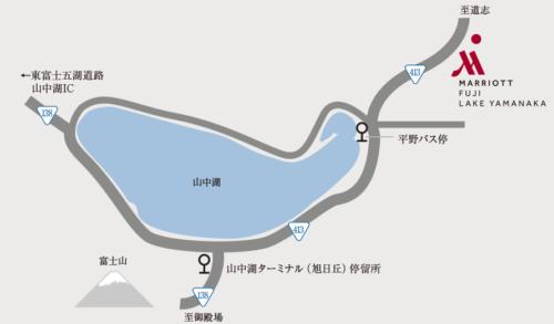 山中湖周辺簡易地図