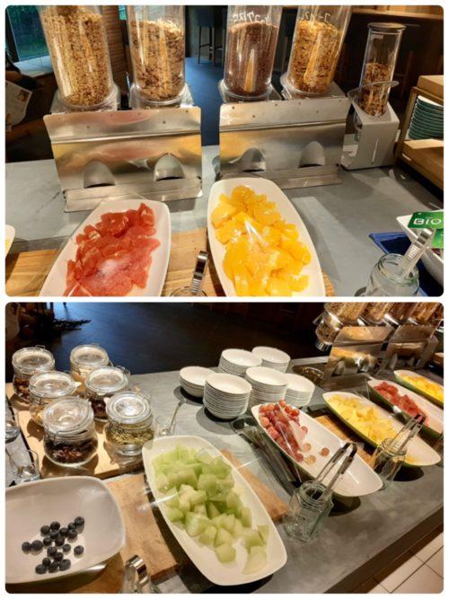 朝食ビュッフェ1