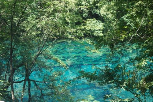 九寨溝の湖1