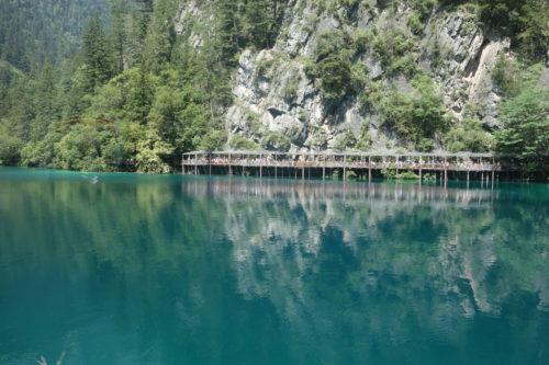 九寨溝の湖2
