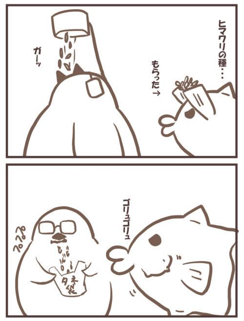 16-1ヒマワリの種を食べる