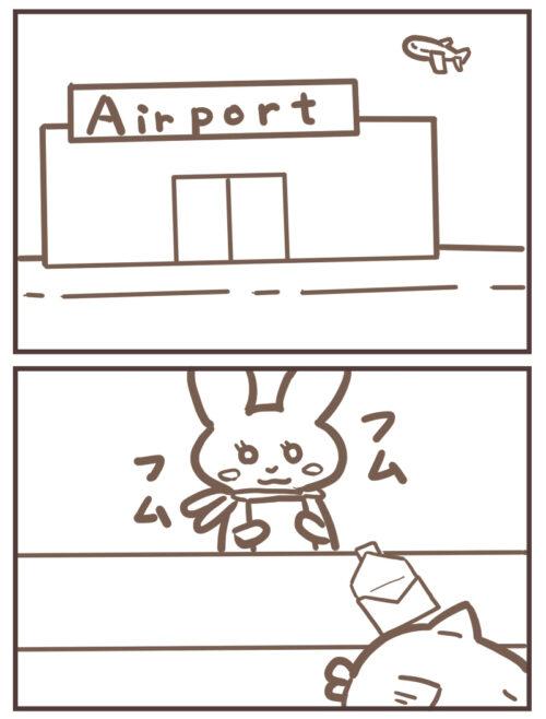 11-1空港に着く