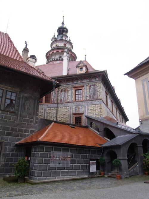 チェスキークルムロフ城の壁