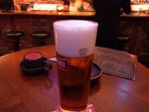 海外で初めてのビール